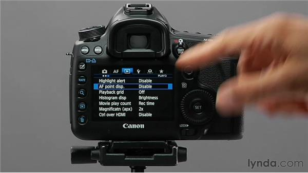 Enabling AF point display: Shooting with the Canon 5D Mark III