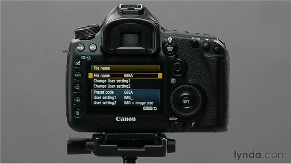 Changing file names: Shooting with the Canon 5D Mark III