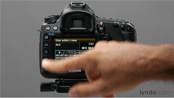 Adding copyright information: Shooting with the Canon 5D Mark III