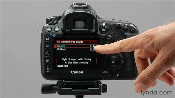 Exploring the Live View shooting area display: Shooting with the Canon 5D Mark III