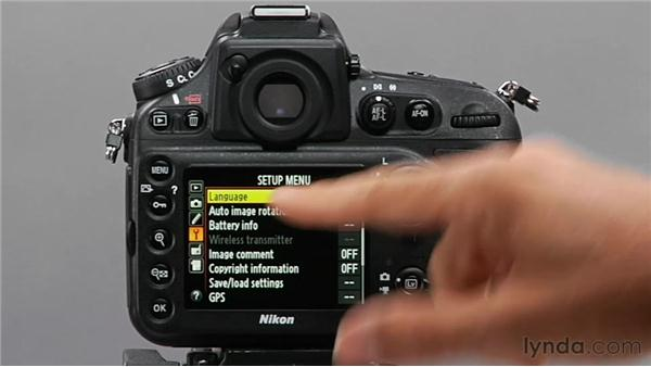 Setting the language: Shooting with the Nikon D800