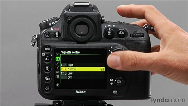 Using the Vignette Control feature: Shooting with the Nikon D800