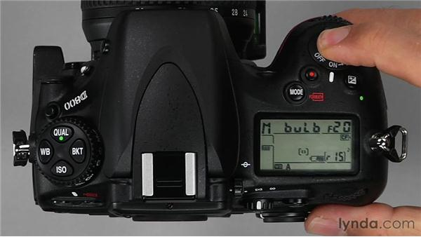 Using the Bulb setting in Manual mode: Shooting with the Nikon D800