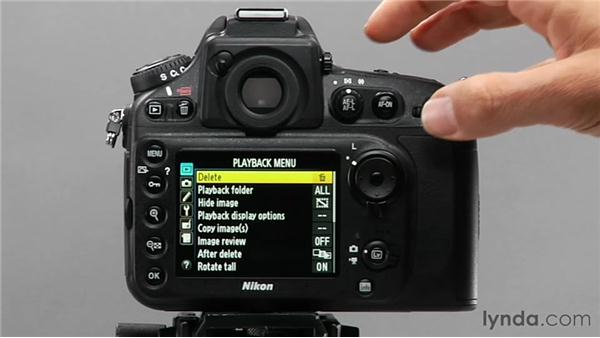 Protecting and deleting images: Shooting with the Nikon D800