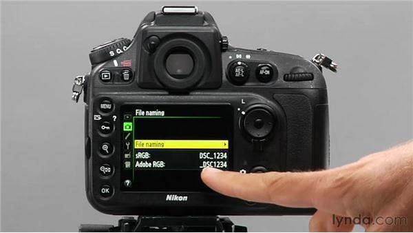 File naming: Shooting with the Nikon D800