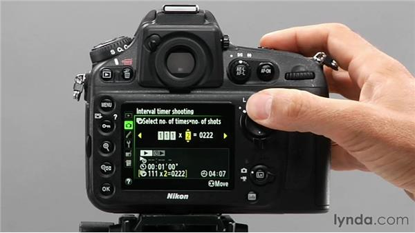 Using the interval timer: Shooting with the Nikon D800