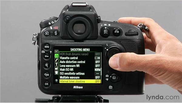 Shooting time-lapse photography: Shooting with the Nikon D800
