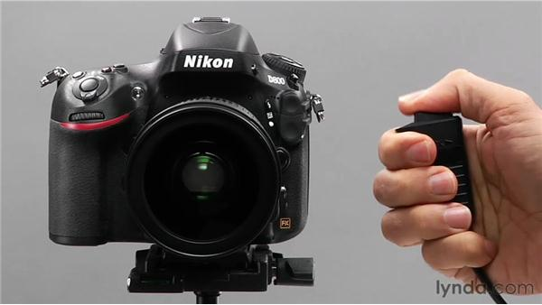 Using the remote control: Shooting with the Nikon D800