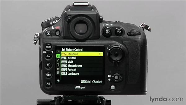 Selecting a picture control: Shooting with the Nikon D800
