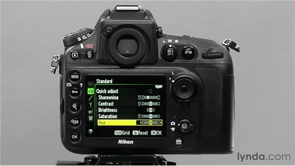 Modifying a picture control: Shooting with the Nikon D800