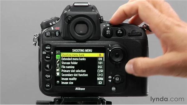 Using menu banks: Shooting with the Nikon D800
