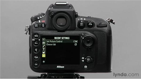 Using the My Menu feature: Shooting with the Nikon D800