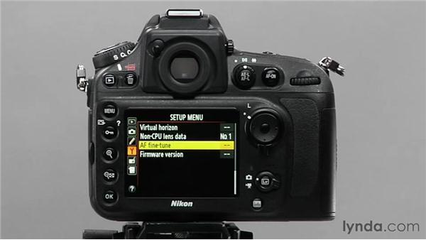 Autofocus fine-tuning: Shooting with the Nikon D800