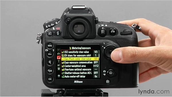 Using exposure flash compensation step value: Shooting with the Nikon D800
