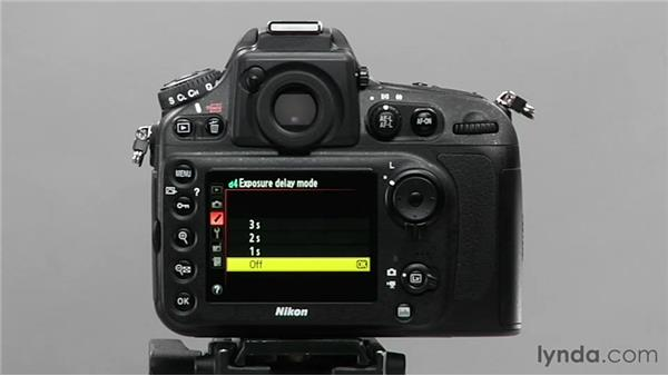 Using Exposure Delay mode: Shooting with the Nikon D800