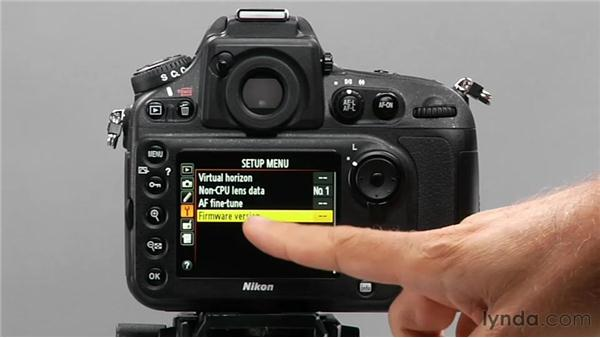 Getting firmware updates: Shooting with the Nikon D800