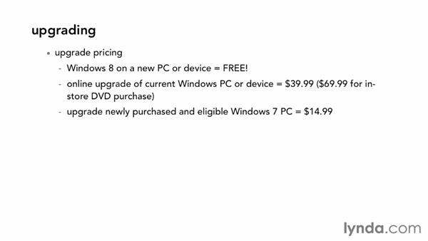 Upgrading from other Windows versions: Windows 8 Essential Training