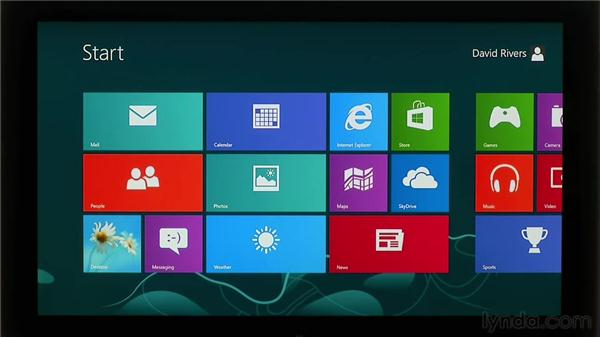 Using touch screens and gestures: Windows 8 Essential Training