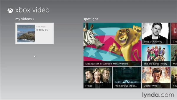 Managing video with the Video app: Windows 8 Essential Training