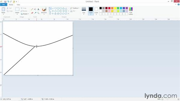 Creating graphics with Paint: Windows 8 Essential Training