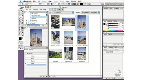 applying keywords to images: New in Photoshop CS