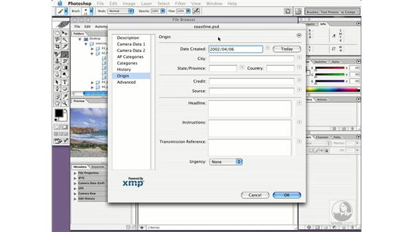 applying metadata to images: New in Photoshop CS