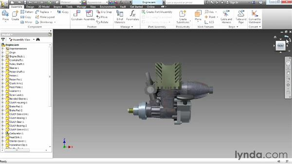 Navigating using the ViewCube: Up and Running with Autodesk Inventor