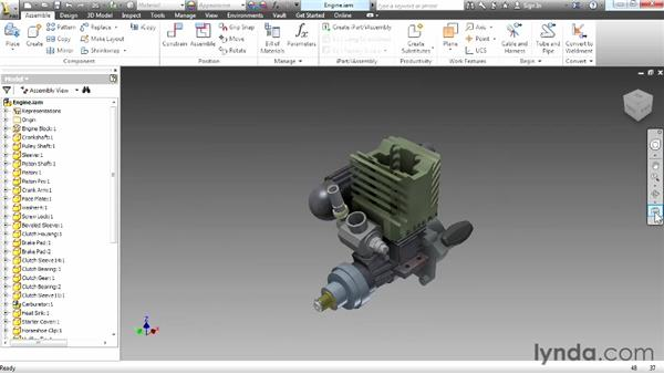 Navigating using the navigation tools: Up and Running with Autodesk Inventor