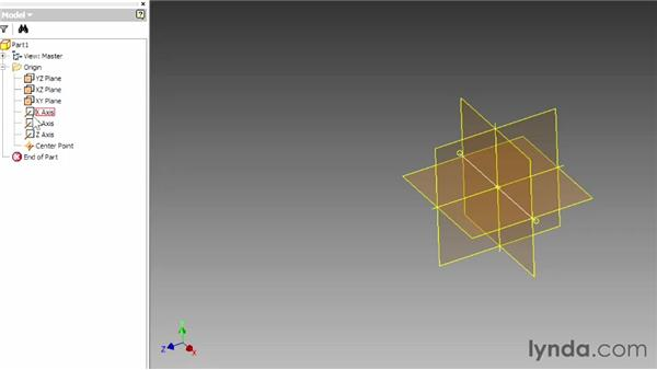 Working with origin geometry: Up and Running with Autodesk Inventor
