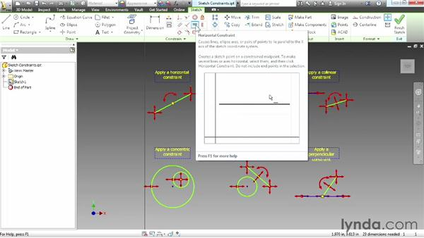 Understanding constraints: Up and Running with Autodesk Inventor