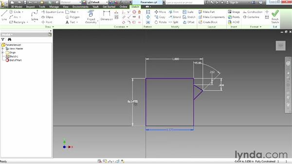 Creating parameters: Up and Running with Autodesk Inventor