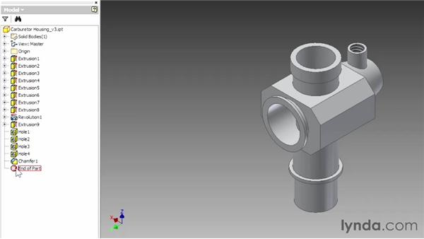 Introducing part modeling: Up and Running with Autodesk Inventor
