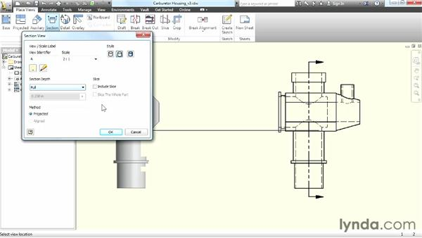 Creating section and detail views: Up and Running with Autodesk Inventor
