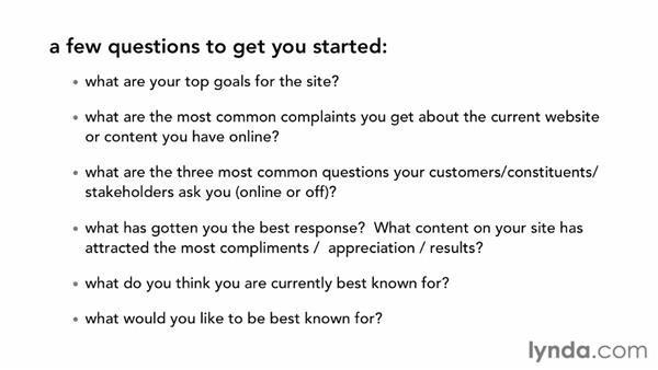 Using interviews or questionnaires to identify content needs: Creating an Effective Content Strategy for Your Website