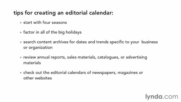 Establishing an editorial calendar and process: Creating an Effective Content Strategy for Your Website