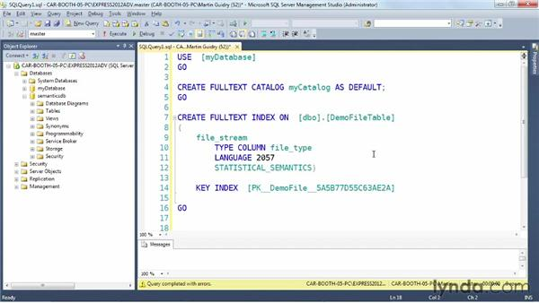Exploring the new semantic search for unstructured data: SQL Server 2012 New Features