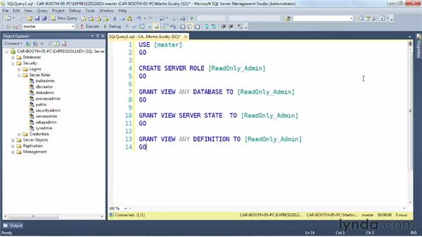 Creating user-defined server roles: SQL Server 2012 New Features