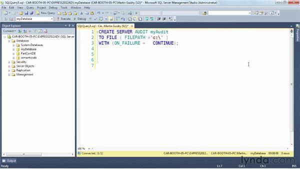 Understanding auditing: SQL Server 2012 New Features