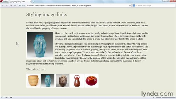 Styling image links: CSS: Styling Navigation