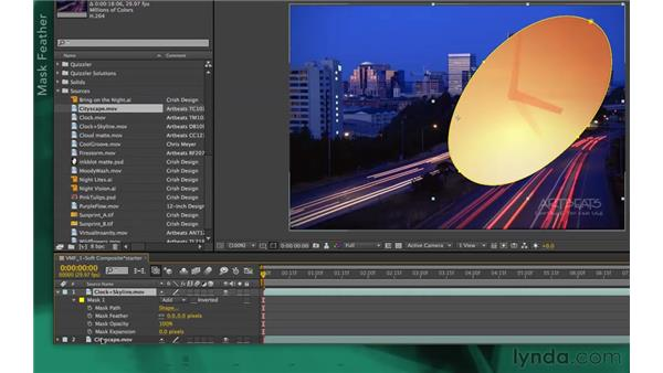 The basics of variable-mask feathering: After Effects Apprentice 05: Creating Transparency