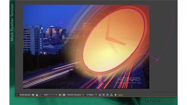 Exploring variable-mask feathering options: After Effects Apprentice 05: Creating Transparency