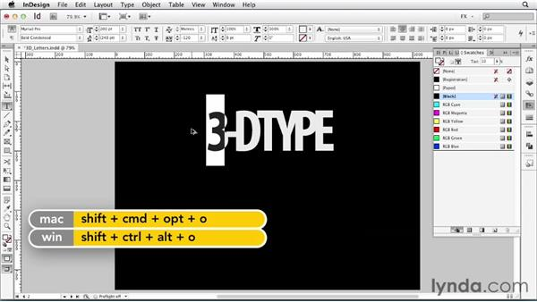 067 Making 3D type: InDesign FX