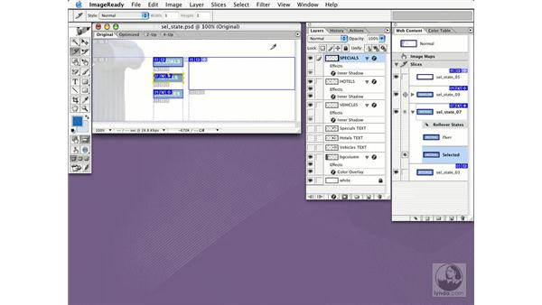 multiple web pages with selected states: New in Photoshop CS