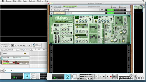 Using the Malström Graintable synth: Up and Running with Reason 6.5