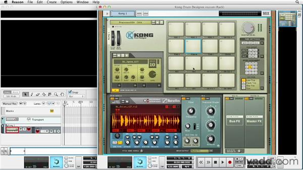 Utilizing the Kong Drum Designer: Up and Running with Reason 6.5