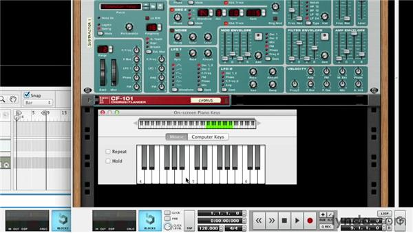 Utilizing a synth or sampler without a MIDI keyboard: Up and Running with Reason 6.5