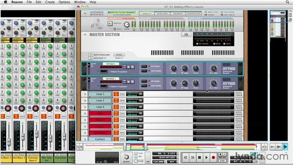 Putting reverb on vocal tracks: Up and Running with Reason 6.5