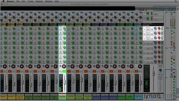 Adding effects to other tracks: Up and Running with Reason 6.5