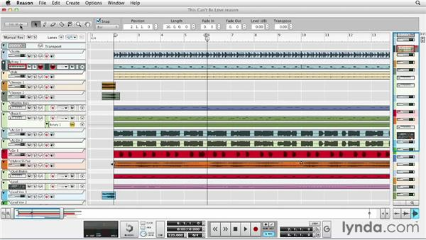Understanding the layout of the sequencer: Up and Running with Reason 6.5