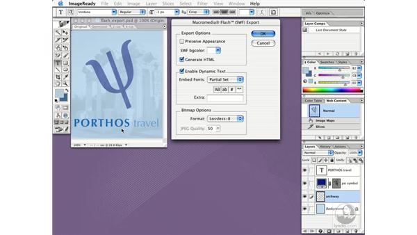 exporting SWF files for web: New in Photoshop CS